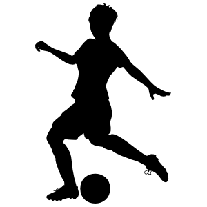 Girl Soccer Player Kicking Sticker