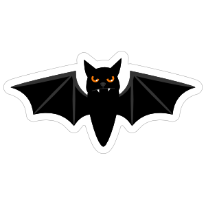 Angry Bat Sticker