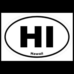 Hawaii Hi Oval Sticker