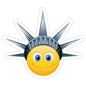 Cute Lady Liberty Emoji Sticker