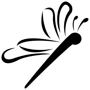Dragonfly Flying Sticker