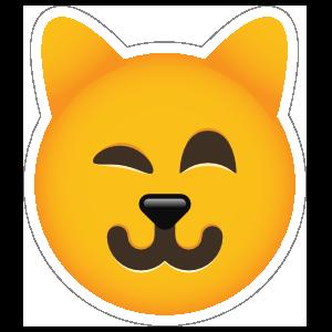 Phone Emoji Sticker Cat Winking