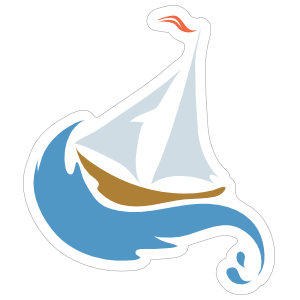 Sailing Beach Sticker