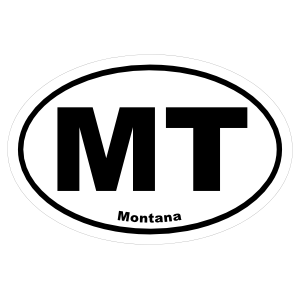 Montana Mt Oval Sticker