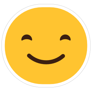 Happy Face Emoji Hippie Sticker