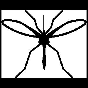 Mosquito Silhouette Sticker