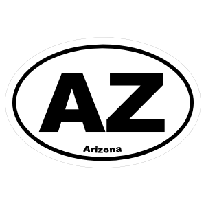 Arizona Az Oval Sticker