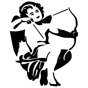 Cherub Angel Shooting Arrow Sticker
