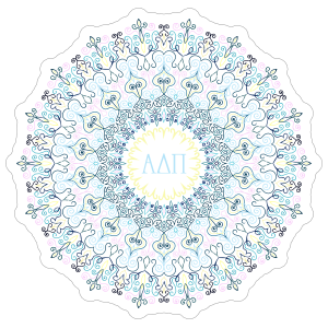 Pastel Alpha Delta Pi Mandala Sticker