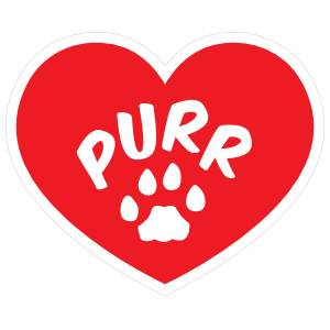 I Love My Cat Heart With Purr And Paw Magnet