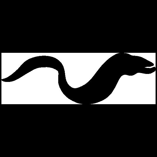 Eel Silhouette Sticker