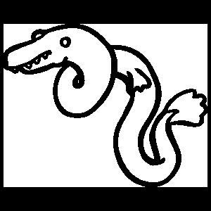 Eel Outline Sticker