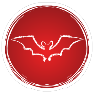 Cool Circle Bat Sticker