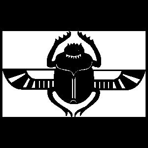 Egyptian Hieroglyphic Flying Scarab Beetle Sticker