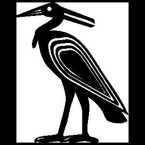 Egyptian Hieroglyphic Heron Sticker