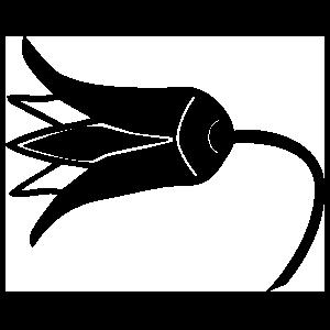 Egyptian Hieroglyphic Of A Lotus Flower Sticker