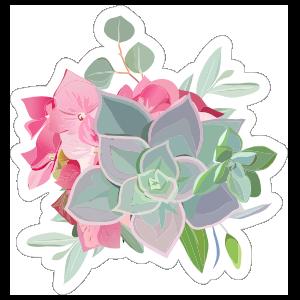 Elegant Succulent Bouquet Sticker