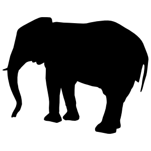 Standing Elephant Sticker