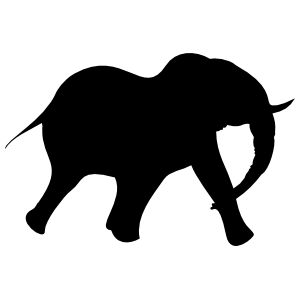 Large Elephant Running Sticker