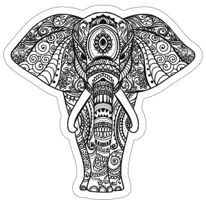 Elephant Boho Sticker