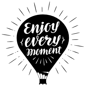 Enjoy Every Moment Balloon Sticker