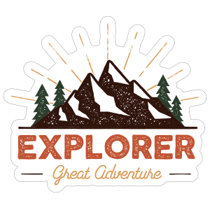 Explorer Great Adventure Sticker