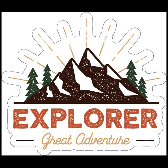 Explorer Great Adventure Sticker
