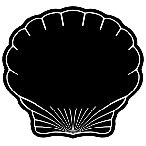 Clam Seashell Cut Out Outline Sticker