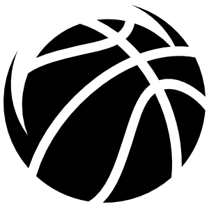 One Color Basketball Sticker