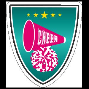 Shield Cheerleading Sticker