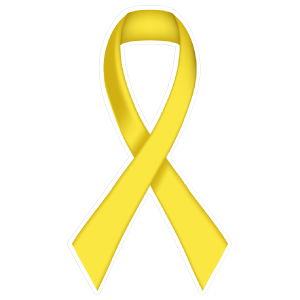 Thin Yellow Ribbon Die-Cut Sticker