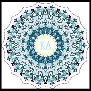 Pastel Kappa Delta Mandala Sticker