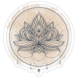 Ornate Lotus Flower Boho Sticker