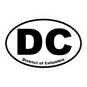 District Of Columbia Washington, Dc Oval Sticker