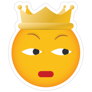 Phone Emoji Sticker Crown Scowling