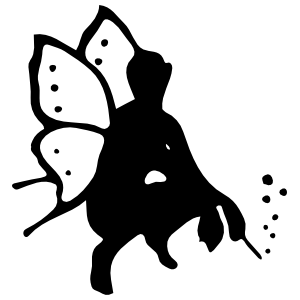 Squatting Fairy With Wand Sticker