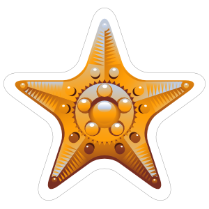 Fancy Yellow Starfish Sticker
