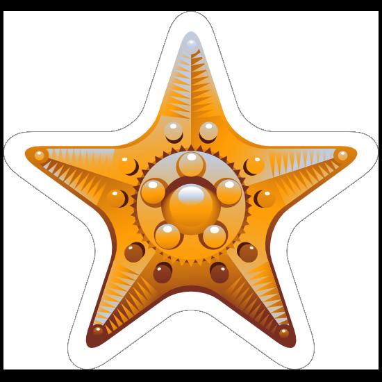 Fancy Yellow Starfish Sticker