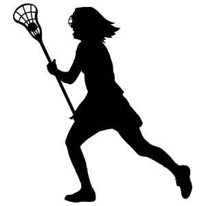 Fast Girl Lacrosse Player Sticker
