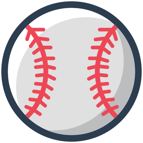 Fastball Pitch Seams Baseball Sticker