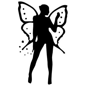 Tall Fairy With Magic All Around Sticker