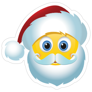 Cute Santa Claus Christmas Emoji Sticker