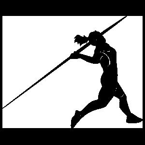 Female Javelin Thrower Sticker