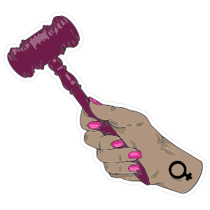 Feminine Gavel Sticker