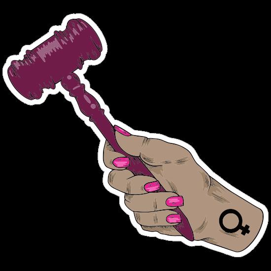 Feminine Gavel Sticker