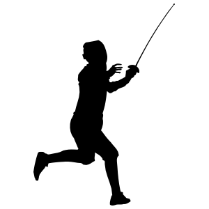Fencer Running Sticker