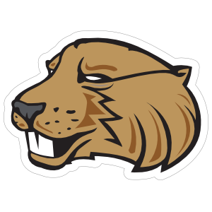 Fierce Beaver Mascot Sticker