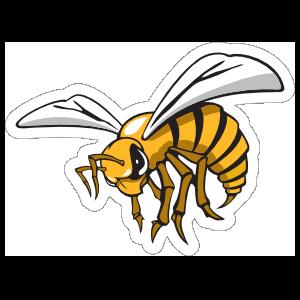 Fierce Hornet Mascot Sticker