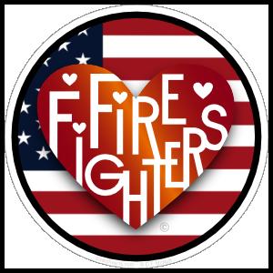 Firefighters Lover's Heart® Sticker
