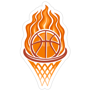 Fire Hoop Basketball Sticker